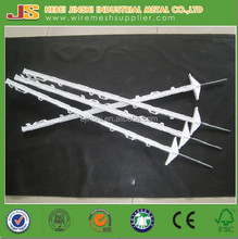 Poly wire and steel spike Electric fencing system