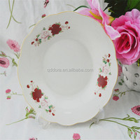 High quality and low price cermic dinner set with hand printed for own factory made in china