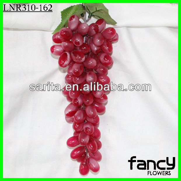 85 heads red artificial grapes bunch for home decoration