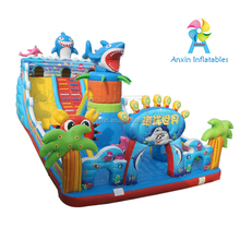 Sea Animal World Inflatable Bouncer,Outdoor Giant Inflatable Jumping Castle