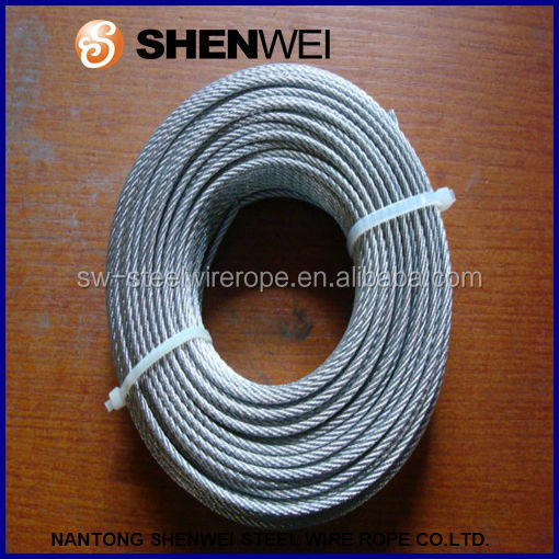 DIN3069 19x7 steel wire rope soft coiled package