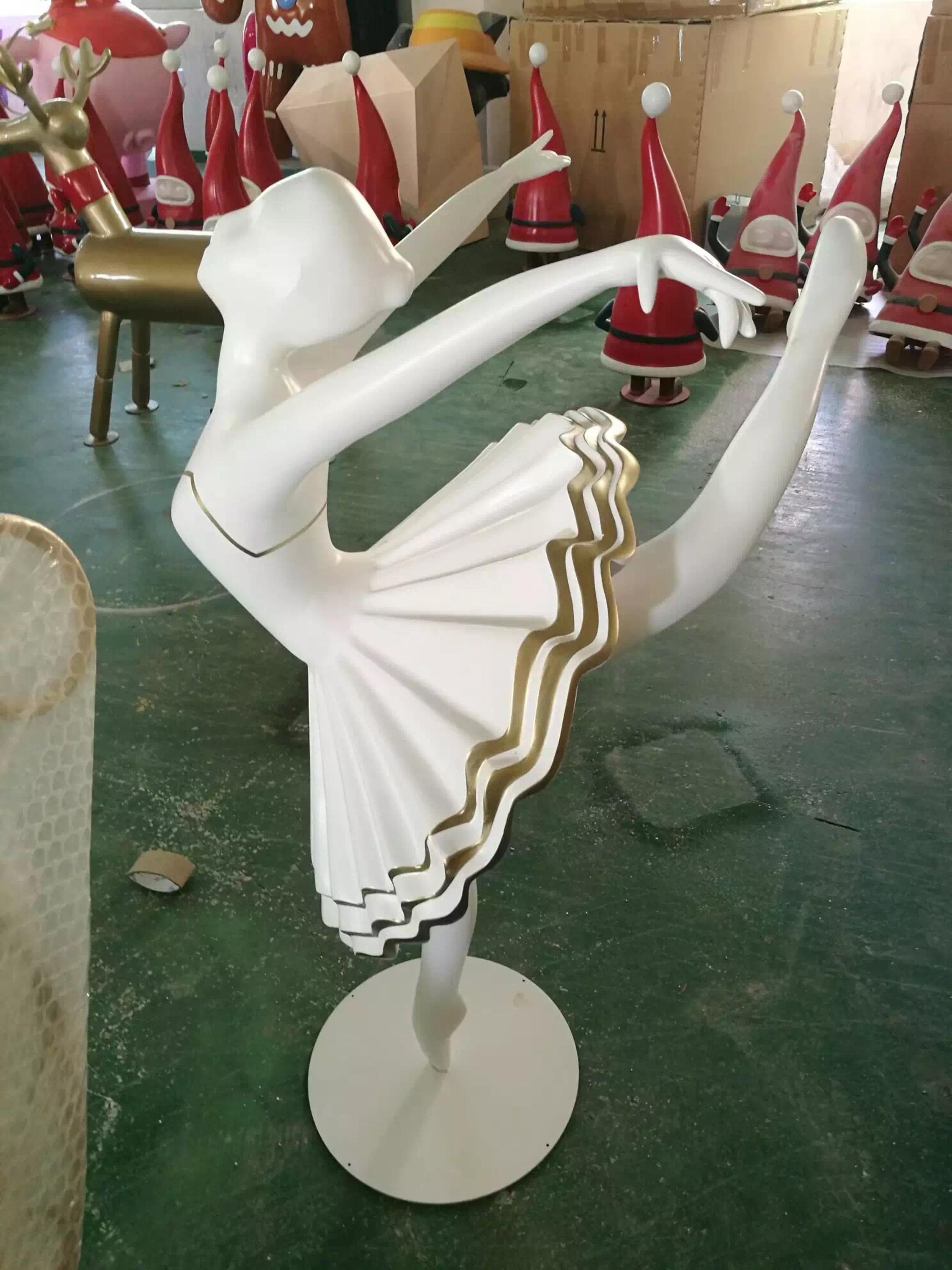 custom made rotating dancing ballerina fiberglass sculpture