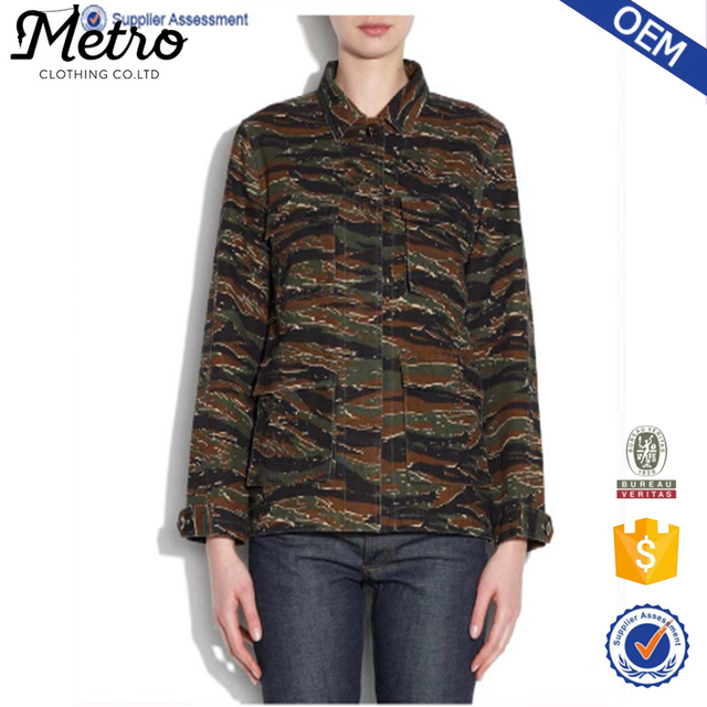 Women camouflage cotton Army jacket