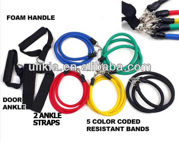 11pcs Exercise Resistance Bands Set for yoga fitness Pilats workout