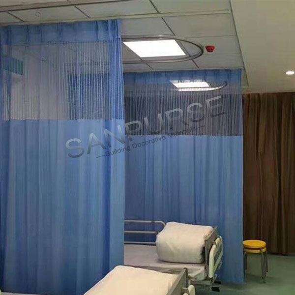 wholesale factory selling 100 % polyester hospital curtains