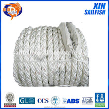 super high white 8 strand pp rope for ship