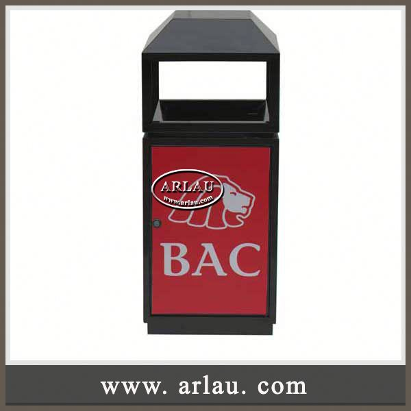Arlau Curver Recycling Bin,Recycling Bin Dust Bin,Metal Galvanized Outdoor
