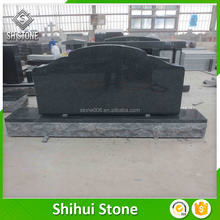 Door to door cemetery tomb design for china black granite monuments
