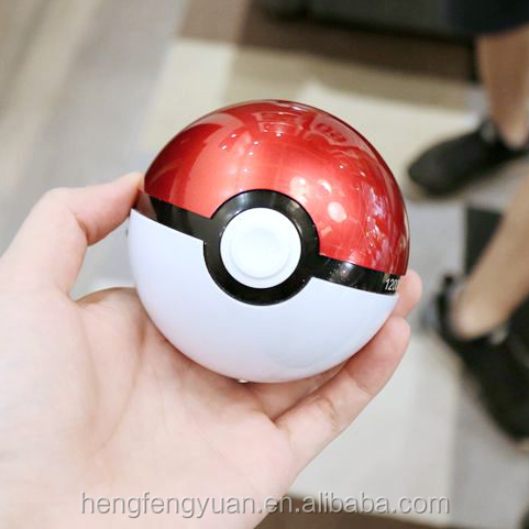 2017 trending products 12000mah pokemon pokeball power bank for smartphone