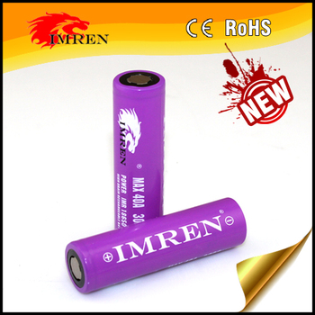 High Quality of IMREN 18650 3000mah 40a battery in Stock