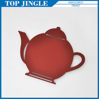 Deft design red teapot shaped small trivet