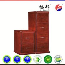 Office teak wooden drawer file cabinets
