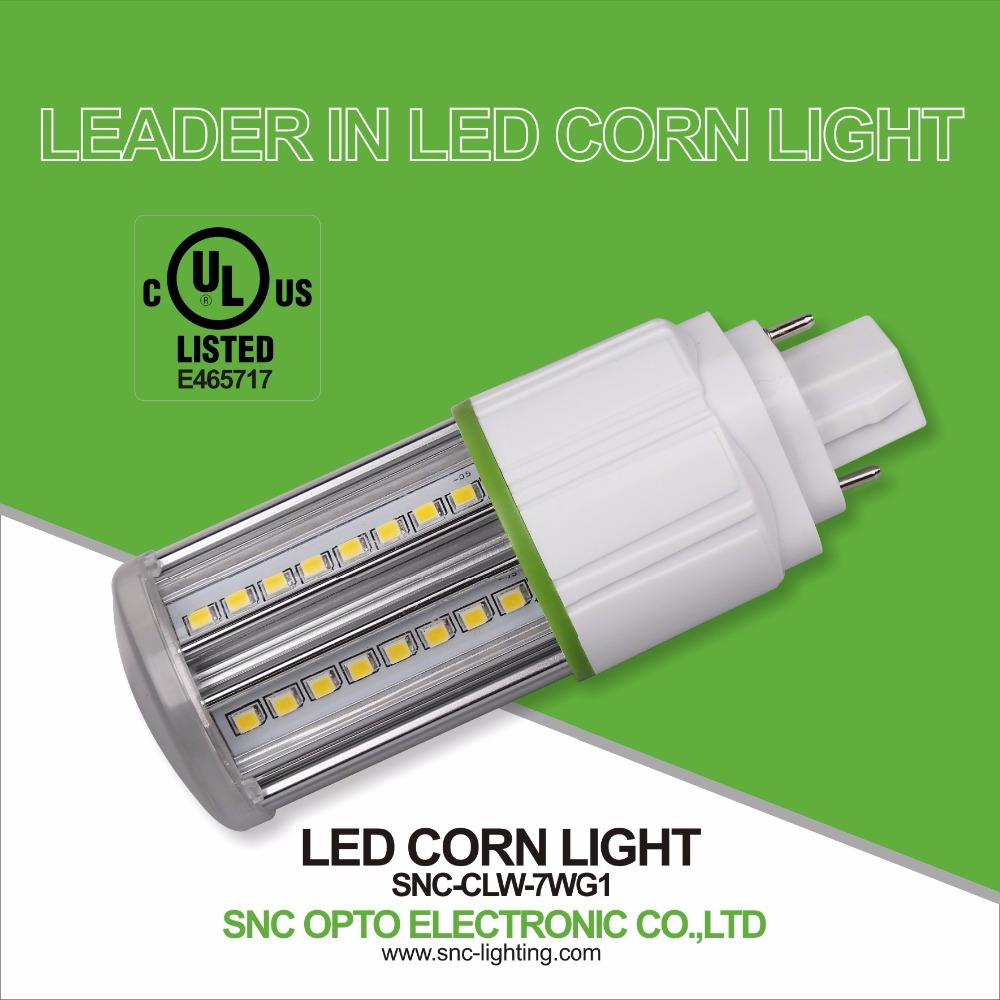 UL CUL listed IP64 corn bulb 7W the driver is internal input voltage AC100-277V 5 years warranty