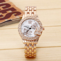 Best Selling Women Wristwatch New Style Fashion Casual Watch Women Ladies Branded Quartz Watch Alloy Shining Surface Women Watch