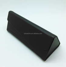 Boshiho newest folding sunglassed case customPU leather glasses case