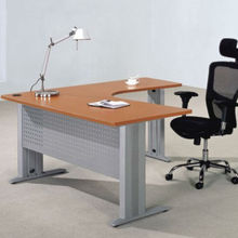 office room durability wood manager desk with modesty panel desks