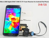 Car Android Monitor Analog TV Tuner DVB-T2S Micro USB Digital DVB-T DVB-T2 TV Tuner Receiver For Android Pad