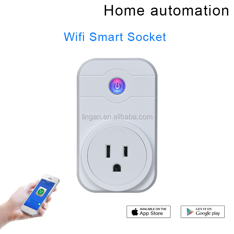 Smart Wireless Wifi Remote Plug Control Timer Switch wifi outlet working with Alexa
