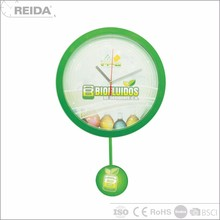 Wholesale analog wall quartz cheap children's small plastic clock