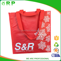 Multi-functional foldable pp non woven fashion red shopping tote bag