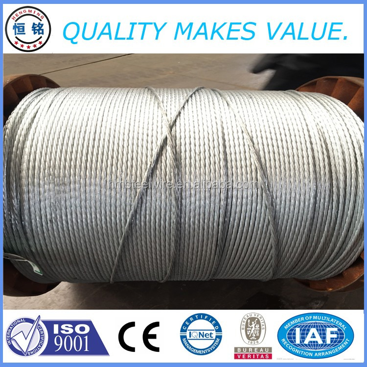 hot dipped galvanized steel wire strand
