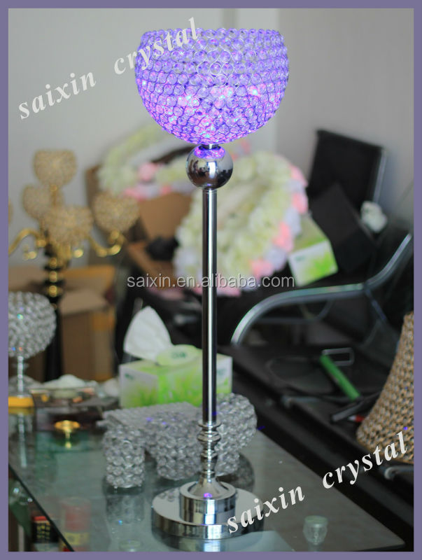 wedding party decorations centerpiece color changing led