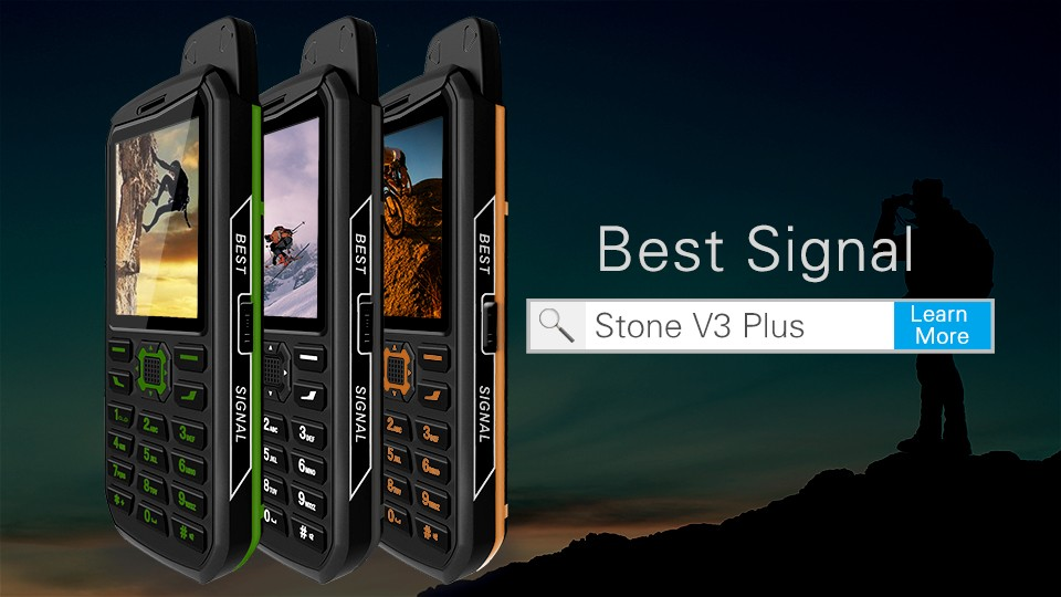VKWORLD Stone V3 Plus 2017 IP54 OEM Factory 2.4inch low temperature MTK6261 Big Battery 4000mAh Dual SIM Cheap Mobile Phone