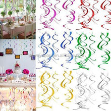 DIY Hanging Swirls Decoration Spirals Ceiling Hanging Decoration for Christmas New Year Wedding Party