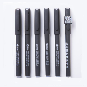 Supply logo printed cheap rubber gel ink pen for promotional gift