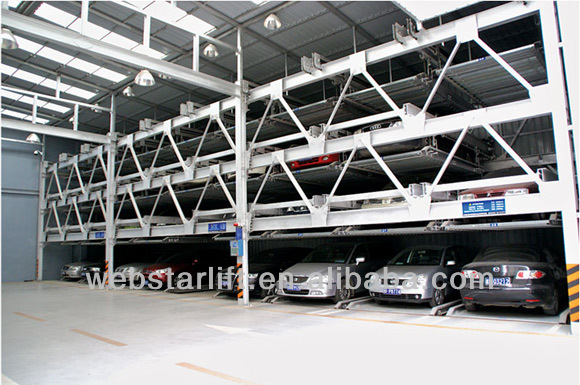 PSH-type multi-section lifting and shifting automatic car parking system
