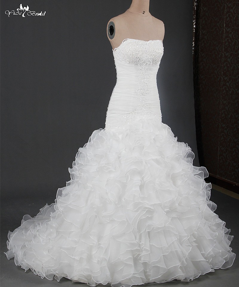 RSW914 Suzhou Organza Ruffles Aliexpress Dresses Wedding China