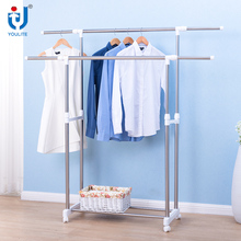 High quality double-pole extendable clothes hanger