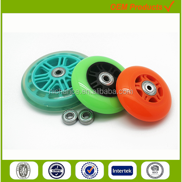 scooter parts 3 wheel led light adult kick scooter wheels