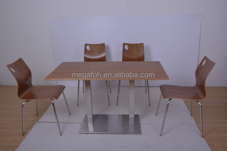 Durable KFC restaurant furniture tables chairs(FOH-NCP15-10)