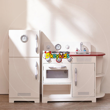 2017 wholesale simulation toddlers wooden kitchen set toys best kids big wooden kitchen set toys with refrigerator W10C256