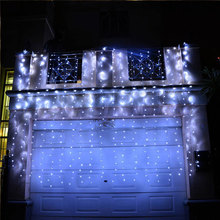 White Wire Wedding Party Outdoor Christmas Decorative Led icicle lights