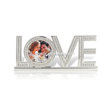 Gifts for newly married couple metal picture photo frame with words LOVE