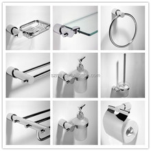 new metal bathroom accessory OEM factory chrome finished bath holder