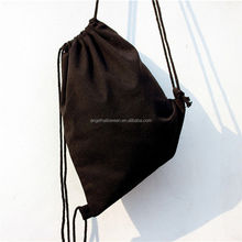 2018 fashion Cotton CanvasDrawstring bag RuckSack Travel Sport School Shoulder Bag AG122