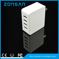 CE,ROHS,FCC Approved 4 usb ports 5v 5a wall charger, ODM/OEM quick deliver power sockets with smart IC