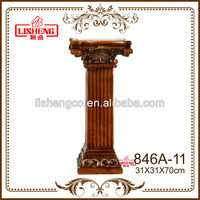 Decorative square resin roman pillars for sale and columns for home 846A-11