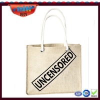 Long handles jute bag /Alibaba china supplier long handles jute bag