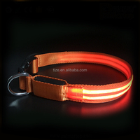Best selling products 2018 Hot LED USB Rechargeable Dog collar wholesale dog collar hardware