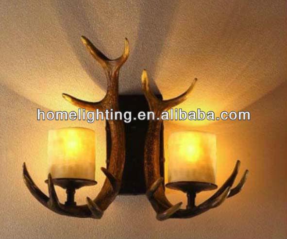 Ca 405 2 luz r stico antler velas apliques de pared - Apliques de luz rusticos ...
