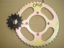 China Manufactured Motorcycle Part CRUX 42 14T 428 112L Motorcycle Chain Sprocket Kit for India Market