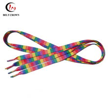 Factory promotional gift polyester custom design sublimation printed shoelaces