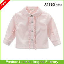 Latest Baby Girls Top Shirt Design Good Quality Princess Collar Blouse Designs for Kids