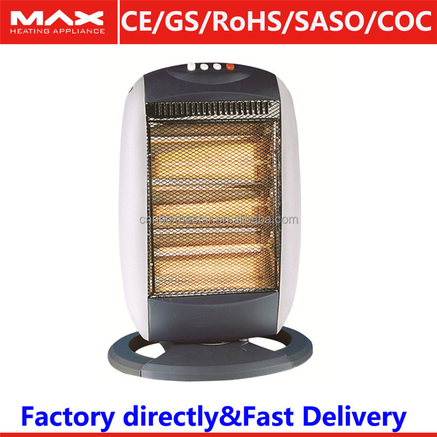 tip over switch halogen heater with electrical