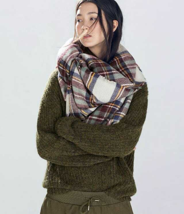 High Quality Popular Plaid Scarves Wrap Wholesale