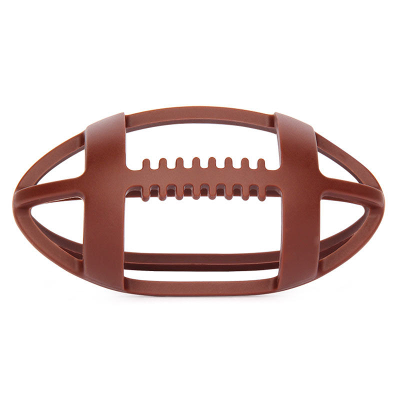 2017 new design American football silicona teether from silicone manufacture